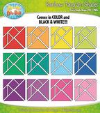Rainbow Tangram Shapes Clipart {Zip-A-Dee-Doo-Dah Designs}