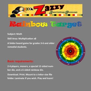 Rainbow Target  -- Multiplication x8