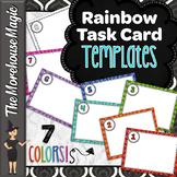 Rainbow Task Card Templates - Editable!