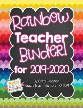Rainbow Teacher Binder {2016-2017}