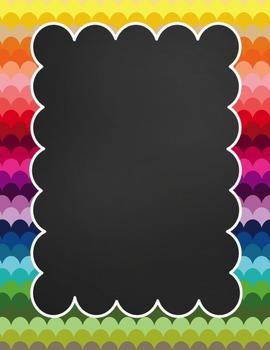 Rainbow Teacher Binder  Subject ADD-ONS! {2015-2016}