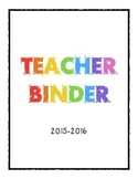 Rainbow Teacher Binder Template