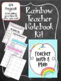 Rainbow Teacher Notebook. Binder. Planner Arc Notebook. Le