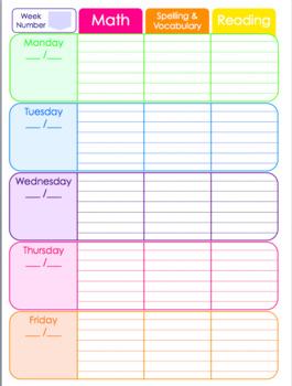 Rainbow Teacher Planner for ANY year