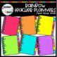 Rainbow Teacher Planners Clipart