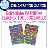 Rainbow Teacher Toolbox Labels