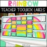 Rainbow Teacher Toolbox Labels -Editable