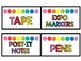 Rainbow Teacher and Student Supply Labels