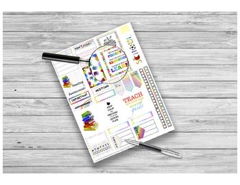 Rainbow Teachers Stickers Printable for HP and EC Teacher