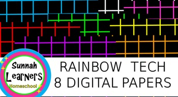 Rainbow Tech graphed bright digital paper