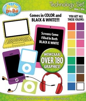 Rainbow Technology Clipart Bundle {Zip-A-Dee-Doo-Dah Designs}