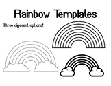 Rainbow Template for Art Project Rainbow Coloring Page Rainbow Outline Sheet