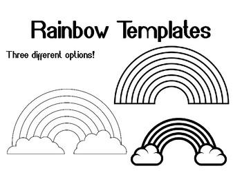 Rainbow Template Rainbow Coloring Page Rainbow Outline Rainbow Bulletin  Board