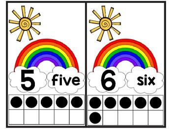 Rainbow Ten Frame