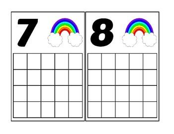 Rainbow Ten Frame Activity (Numbers 1-20)
