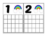 Rainbow Ten Frame Activity (Numbers 1-20)