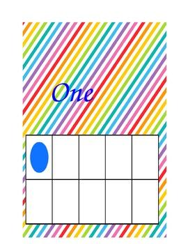 Rainbow Ten Frames 1-5