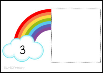 Rainbow Ten Frames Task Box Activity FREEBIE