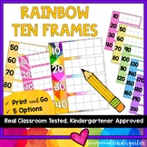 Rainbow Ten Frames for Calendar Math and Counting the Days of School