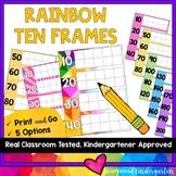 Rainbow Ten Frames for Calendar Math & Counting Days of School