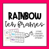 Rainbow Ten Frames for Counting Days in School