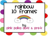 Spring Rainbow Ten Frames - Numbers, Counting