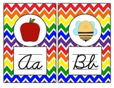 Rainbow Theme Alphabet Mini Posters