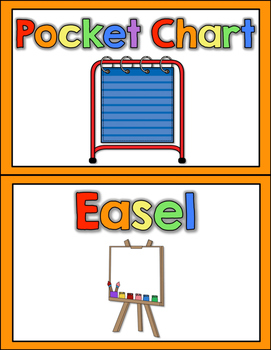 Rainbow Theme Center Signs