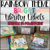 Rainbow Theme Classroom Decor Library Book Labels