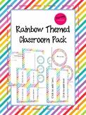 Rainbow Theme Classroom Decor Pack (Editable!!)