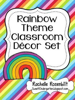 Rainbow Theme Classroom Decor Set