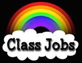 Rainbow Theme Classroom Job Cards - Includes Blank Cards to Edit