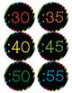 Rainbow Theme Clock Labels