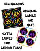 Rainbow Theme Desk Labels - Kagan Cooperative Learning Style