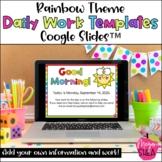 Rainbow Theme Editable Daily Work Google Slides™️ Template