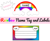 Rainbow Theme - Label and Name Tag - Class Decor