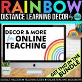Rainbow Theme | Online Teaching Backdrop | Google Classroo