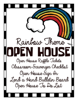Rainbow Theme Open House Package