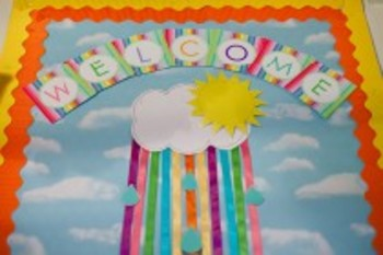 Classroom Decor Rainbow Theme Raindrops