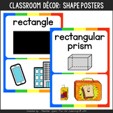 Rainbow Theme Shapes Posters