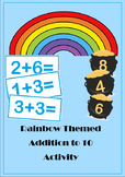 Rainbow Themed Addition to 10 Activity