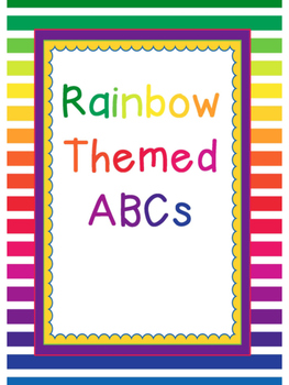Rainbow Themed Alphabet