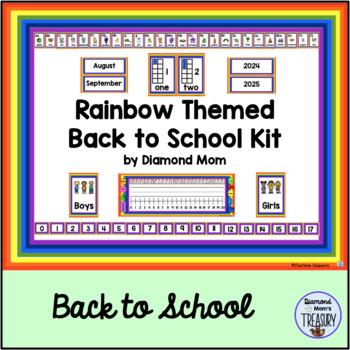 Rainbow Themed Back to School Kit