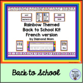 Rainbow Themed Back to School Kit - French version