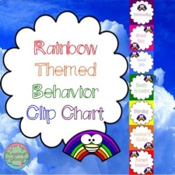 Rainbow Themed Behavior Chart