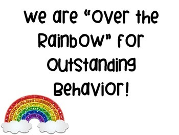 Rainbow Themed Behavior Management Plan Classroom Management Plan Contract