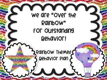 Rainbow Themed Behavior Management Plan Classroom Manageme