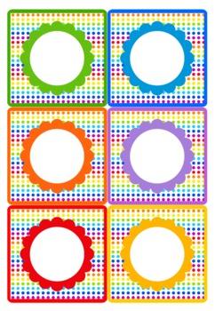 Rainbow Themed Birthday Display