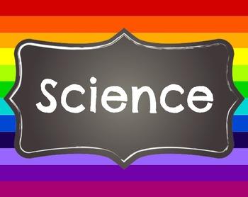Rainbow Themed - Bulletin Board Labels