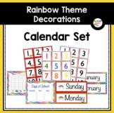 Calendar Numbers (Rainbow-Themed Classroom Decor)